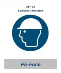 """ASR 02 Gebotsschild """"Kopfschutz benutzen"""" 200mm"""
