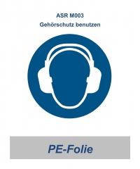 """ASR 03 Gebotsschild """"Gehörschutz benutzen"""" 100mm"""