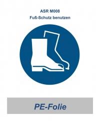 """ASR 05 Gebotsschild """"Fuß-Schutz benutzen"""" 200mm"""