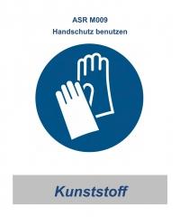 """ASR 06 Gebotsschild """"Handschutz benutzen"""" 200mm / Kunststoff"""