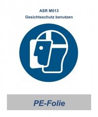 """ASR 08 Gebotsschild """"Gesichtsschutz  benutzen"""" 200mm"""