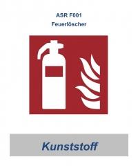 ASR-Symbolschild Feuerlöscher 200x200 / Kunststoff