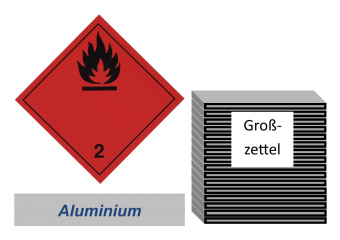 Grosszettel 300x300 Alu - Gefahrgutklasse 2.1