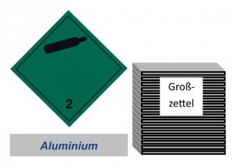 Grosszettel 250x250 Alu - Gefahrgutklasse 2.2