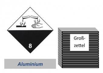 Grosszettel 300x300 Alu - Gefahrgutklasse 8