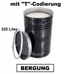 Bergungsfaß 320 Liter mit Spannring-Deckel