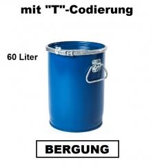 Bergungsfaß 60 Liter mit Spannring-Rillendeckel