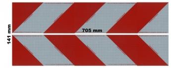 Magnetfoliensatz Container-Kennzeichnung / 2 links + 2 rechts, magnetisch