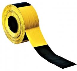 Folienabsperrband  gelb/schwarz