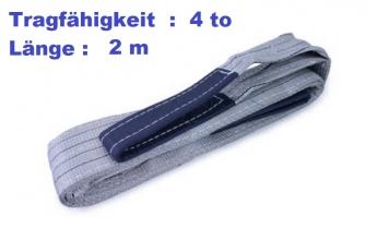 Hebeband mit Endschlaufen 4 to / 2 m