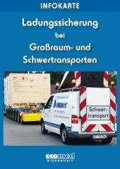 """Infokarte """"Ladungssicherung Großraum- und Schwertransporte"""""""