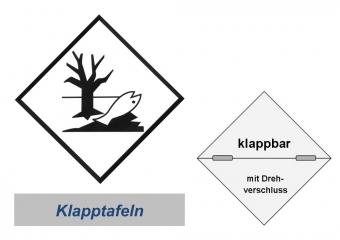 Kennzeichnung 250x250, horizontal Klappbar - Umweltgefährdend