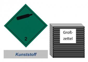 Grosszettel 300x300 Kunststoff - Gefahrgutklasse 2.2