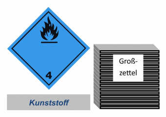 Grosszettel 250x250 Kunststoff - Gefahrgutklasse 4.3