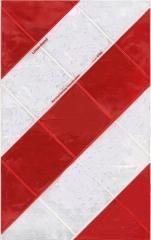 Ladebordwand-Warnmarkierung linksweisend, Halter Kunststoff