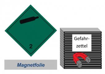 Gefahrzettel 100x100 magnetisch - Gefahrgutklasse 2.2