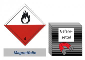 Gefahrzettel 100x100 magnetisch - Gefahrgutklasse 4.2