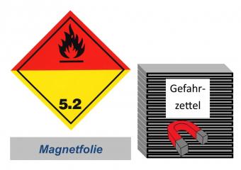 Gefahrzettel 100x100 magnetisch - Gefahrgutklasse 5.2
