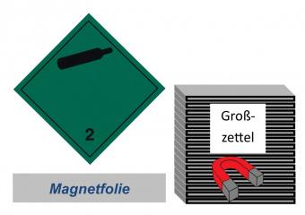 Grosszettel 250x250 magnetisch - Gefahrgutklasse 2.2