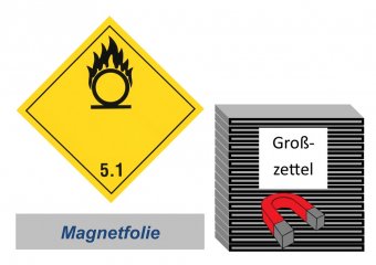 Grosszettel 300x300 magnetisch - Gefahrgutklasse 5.1