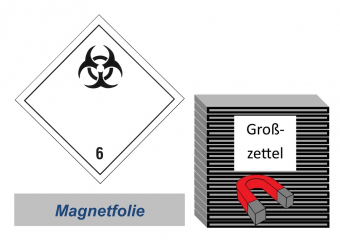 Grosszettel 300x300 magnetisch - Gefahrgutklasse 6.2