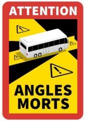 """Kennzeichnung """"Toter Winkel/Angles Morts"""" für BUSSE / Magnetfolie"""