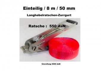 Ratschen-Zurrgurt 50mm einteilig / 8m / 550 daN