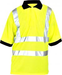 Warn-Poloshirt  neongelb