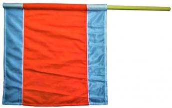 Warnflagge nach DIN 471, 500x500mm
