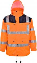 Warnschutz-Parka orange-blau / Größe nach Auswahl