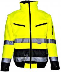 Warnschutzjacke PILOT gelb-grau / Größe nach Auswahl