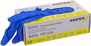 Einweghandschuhe aus Nitril / 100er Paket